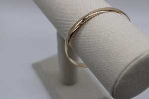 14k Yellow Gold 6mm Slip On Round Bangle, from 302 Fine Jewelry Collection