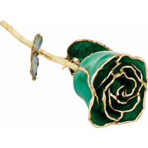 Laquered Birthstone Colored Roses with 24k Gold Trim