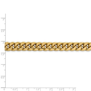 14k Yellow Gold Miami Cuban Link Chain- 9.3mm wide and 24 inches long