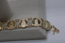Load image into Gallery viewer, 10k or 14k Gold Traditional Saints Bracelet