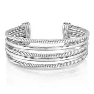 Phillip Gavriel's Magnifica Five Row Cuff in Sterling Silver
