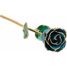 Load image into Gallery viewer, Laquered Birthstone Colored Roses with 24k Gold Trim