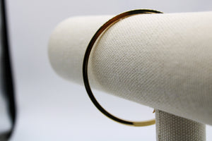 14k Gold Bangle, 3mm wide.