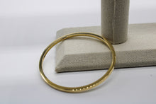 Load image into Gallery viewer, 14k Gold Bangle, 3mm wide.