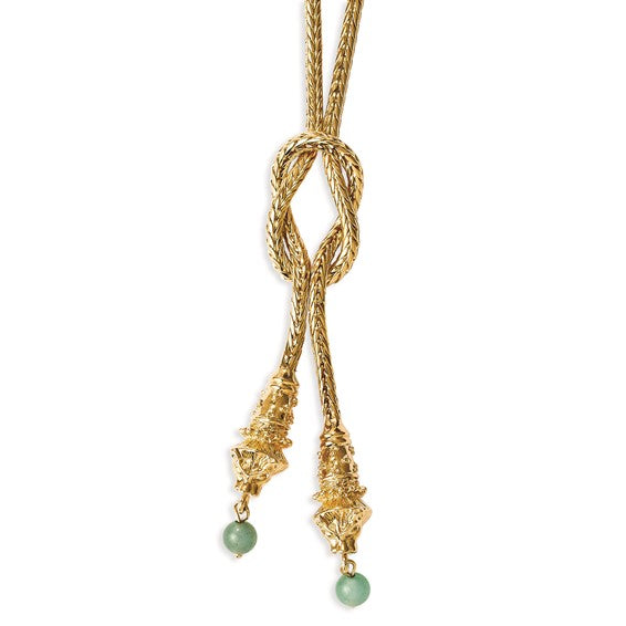 Jackie  Kennedy Lioness Knot Necklace by Camrose and Kross