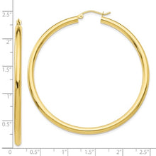 Load image into Gallery viewer, 10k Gold Large Classic Hoop Earrings