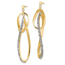 Load image into Gallery viewer, 14K Gold Dangle Earrings with Swarovski Crystals