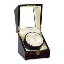 Load image into Gallery viewer, Steinhausen Heritage Cherry Finish Dual Watch Winder