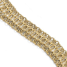 Load image into Gallery viewer, 14K Italian Gold, Wide 8 inch Link Bracelet