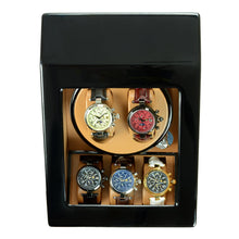 Load image into Gallery viewer, Steinhausen Heritage Onyx Finish Dual Watch Winder with Storage- Model # SW2002