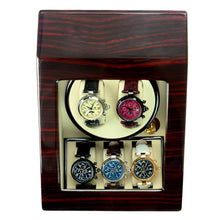Load image into Gallery viewer, Steinhausen Heritage Cherry Finish Dual Watch Winder with Storage. Model # 2001