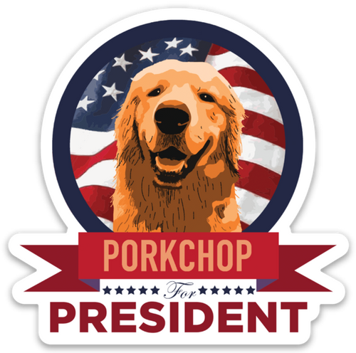Porkchop for President Sticker