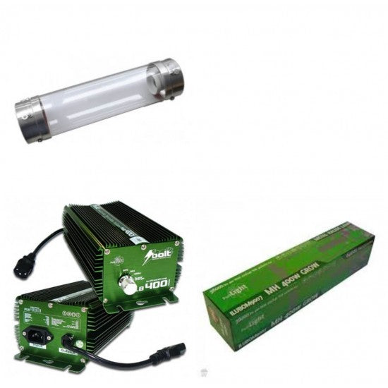 Kit 400 W Bolt + Cooltube 125 MM + Pure Light HPS 400W Bloom