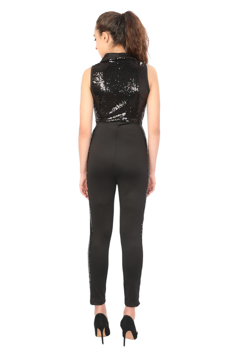 Sequin Jumpsuit - Addery.co.in