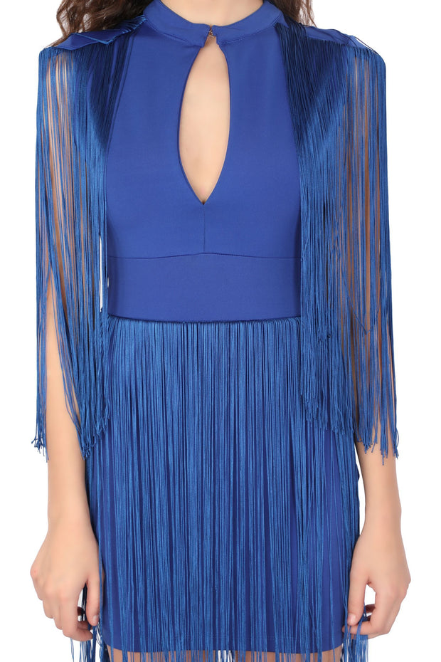 Blue Fringes Dress