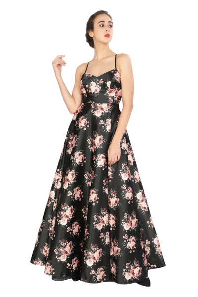 Floral Cross Gown - Addery.co.in
