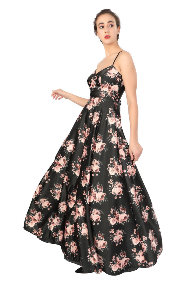 FLORAL Cross Back GOWN