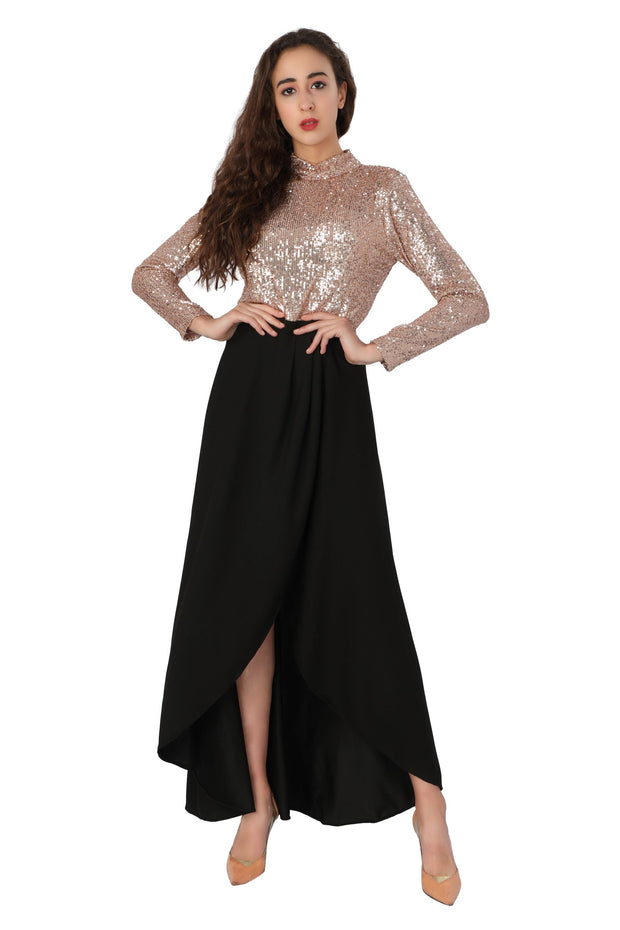 Sequin Skater Gown