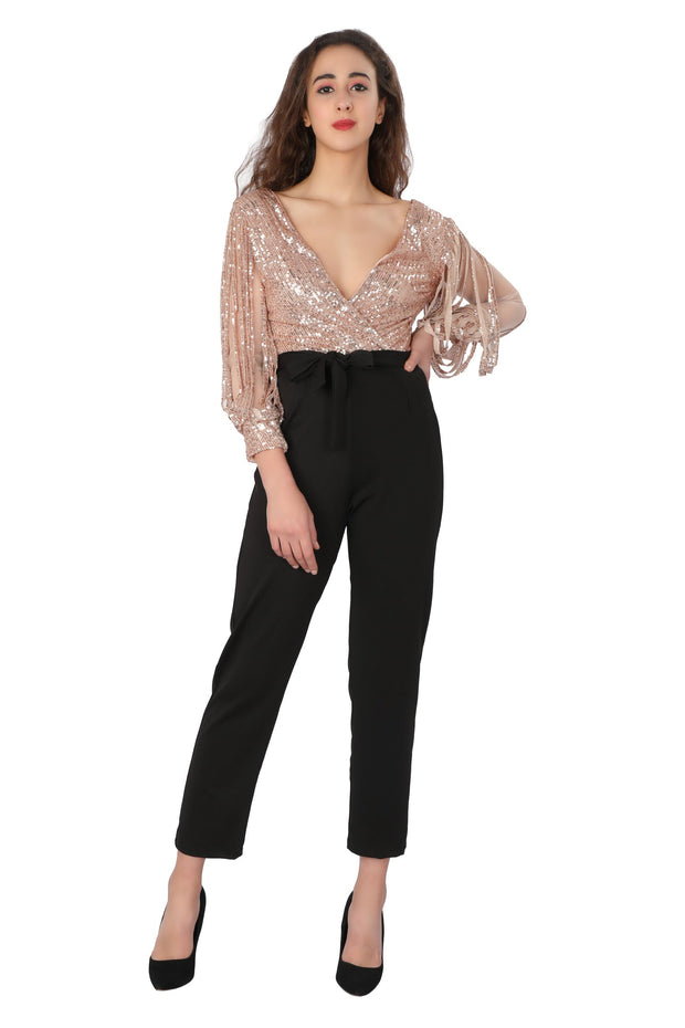 Sequin Fringes JUMPSUIT
