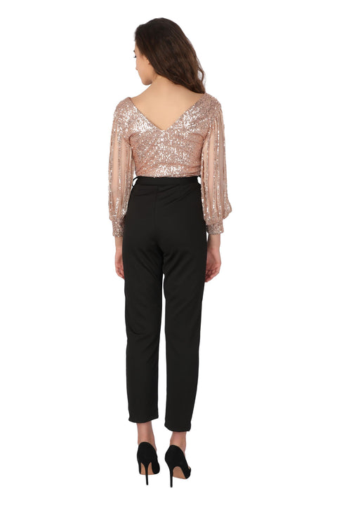 Sequin Fringes Jumpsuit - Addery.co.in