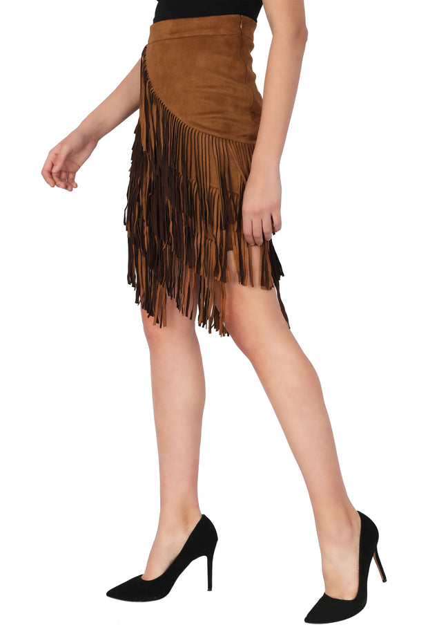 SUEDE FRINGES Skirt