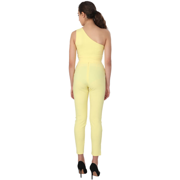 Yellow One Shoulder Co-ordinate