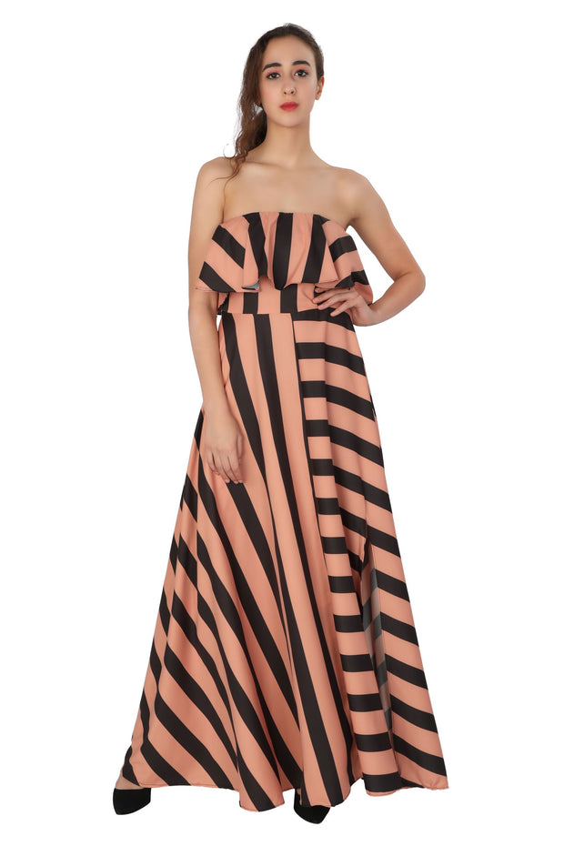 Stripes Tube Gown