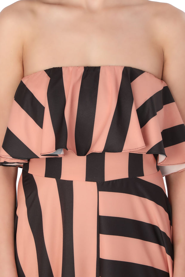 Stripes Tube Gown - Addery.co.in