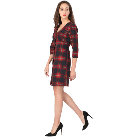 Checkered Dress - Addery.co.in