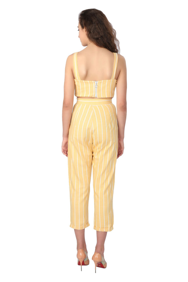 Yellow STRIPES Casual Co-ord