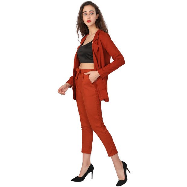 Corduroy Blazer Set - Addery.co.in