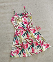 Skater Floral Dress - Addery.co.in