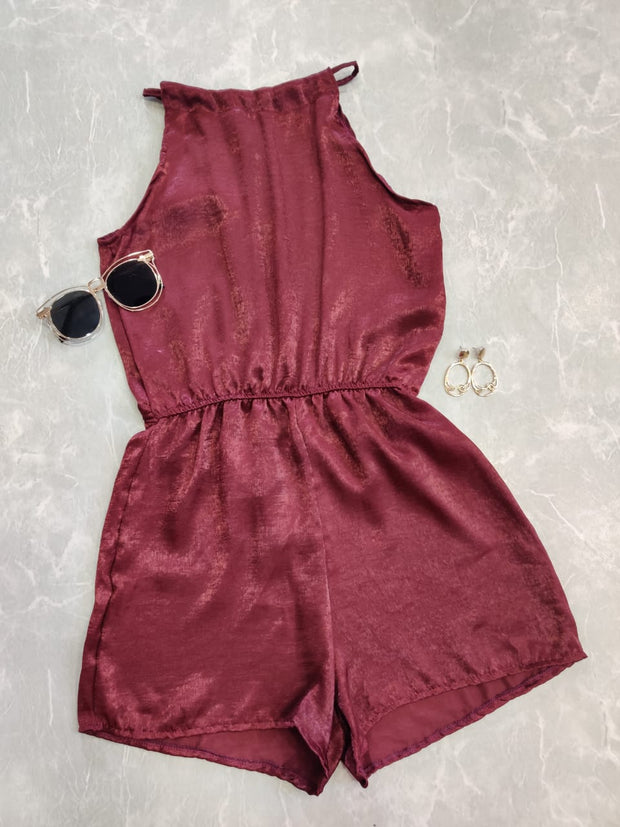 Halter Neck Romper - Addery.co.in