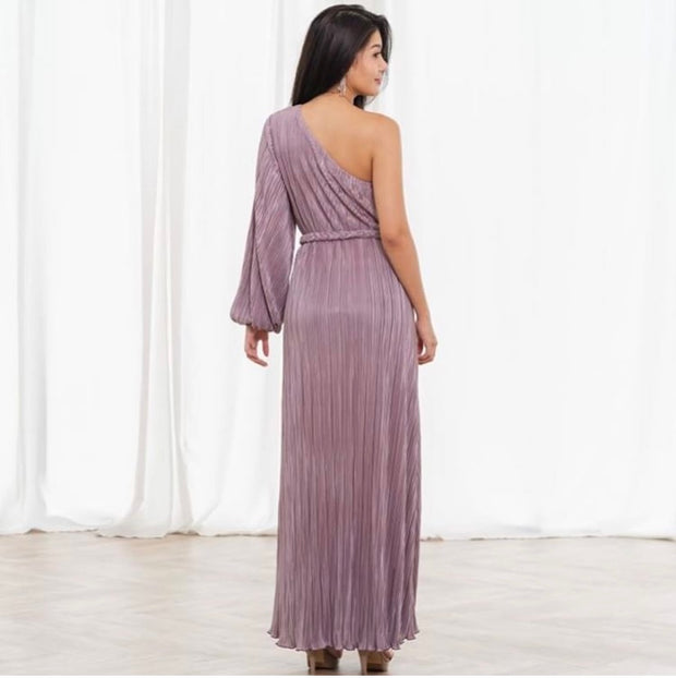 Free Flow Pleated Gown