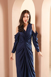 Cold Shoulder Knot Style Gown.