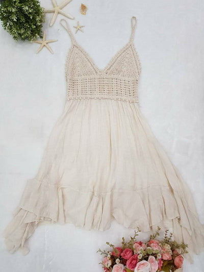 Asymmetric Crochet Dress