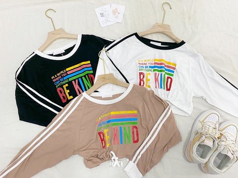 Be Kind Casual Hem Drawstring Top