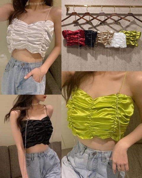 Spaghetti Ruched  Top