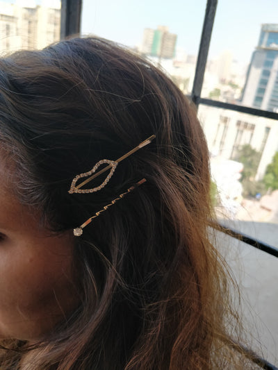 Studded Hair Clip - Addery.co.in