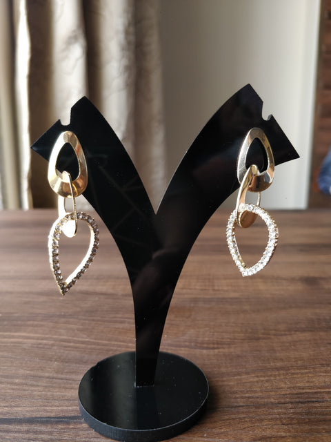 Chained Up Gold Earrings - Addery.co.in