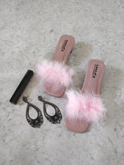 Fur Sandals - Addery.co.in