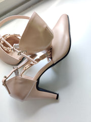 Nude Wedges - Addery.co.in