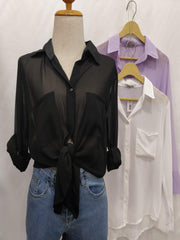Basic Essentials Sheer Shirts - Addery.co.in