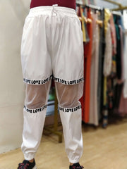 Love Sheer Mesh Pants - Addery.co.in