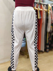 Checkered Zipper Pants - Addery.co.in