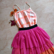 Two Tier Tulle Skirt - Addery.co.in