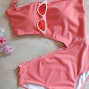 Cut Out One Shoulder Monokini - Addery.co.in
