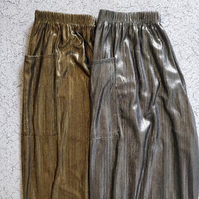Metallic Harem Pants