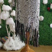 One Shoulder Sequin Fringes Dress