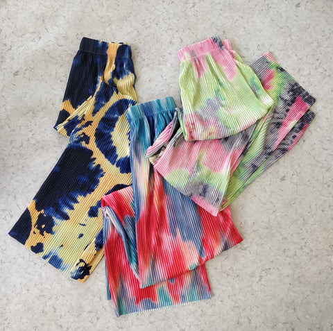 Abstract Pleated Pants - Addery.co.in